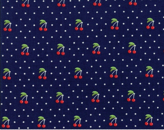 Orchard Cherry Pie - Blueberry - April Rosenthal Orchard for Moda Fabrics (24074 17)