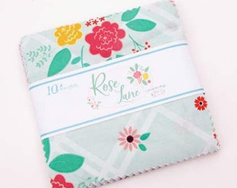 "Rose Lane 5"" Stacker by Beverly McCullough of Flamingo Toes for Riley Blake Designs - Charm Pack - Fabric Precut"