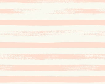 Ruby Star Society Pop Zip Pale Peach Stripe by Rashida Coleman Hale - Novelty Children's Fabric - (RS1005 19)