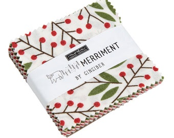 Merriment by Gingiber Mini Charm Pack (48270MC) - Christmas Precut - Moda Fabrics