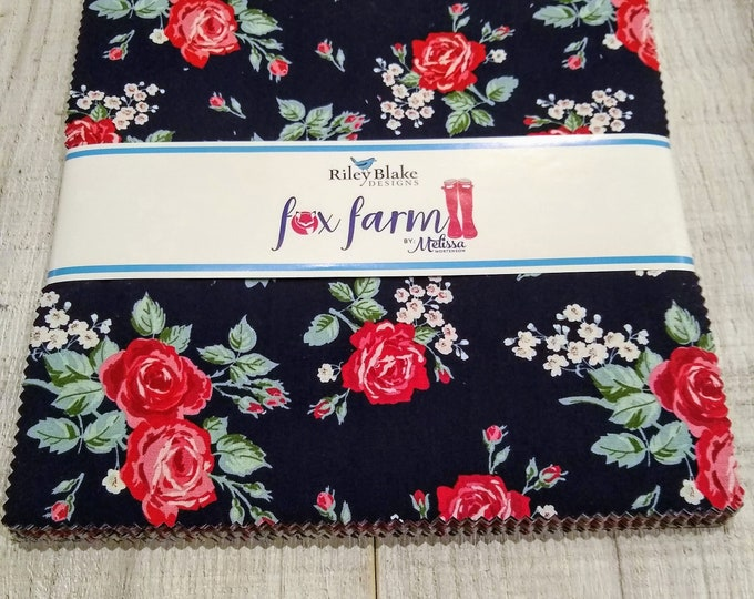 Fox Farm Layer Cake by Melissa Mortenson of Polka Dot Chair for Riley Blake Designs (10-8260-42)