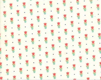 Early Bird Cream Tulips by Bonnie & Camille for Moda Fabrics (55197 17) - Cut Options Available