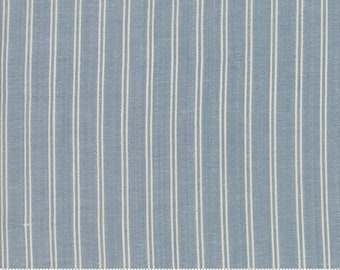 Northport Silky Wovens Medium Blue Stripe by Minick & Simpson for Moda Fabrics  (12215 17) - Patriotic Fabric - Stripe Fabric