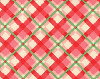Swell (31122 15) Pink Red Plaid by Urban Chiks