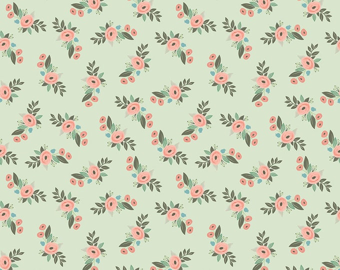 Bliss Mint Floral by My Mind's Eye for Riley Blake Designs (C8161-MINT)