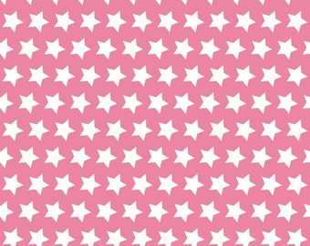 Stars in Hot Pink (C315-70) - Pink Star Fabric by Riley Blake Designs - 1/2 yard