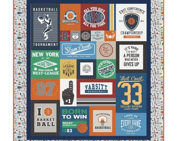 Varsity Basketball Quilt Kit - Pattern by RBD Designers featuring Varsity Basketball by Deena Rutter