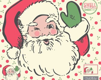 Swell Santa Applique Panel by Urban Chiks for Moda (31120P) - Santa Panel - Urban Chiks Swell Fabric - In Stock!