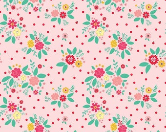Rose Lane Pink Flower Bed by Beverly McCullough of Flamingo Toes for Riley Blake Designs (C8671 PINK)
