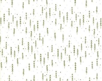 Gingiber Merriment Winter Trees - Snow & Holly (48274 21) for Moda Fabrics