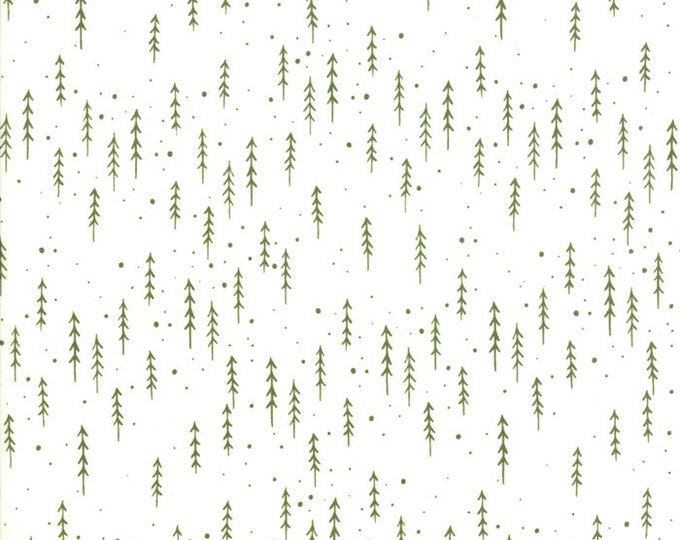 Gingiber Merriment Winter Trees - Snow & Holly (48274 21) for Moda Fabrics