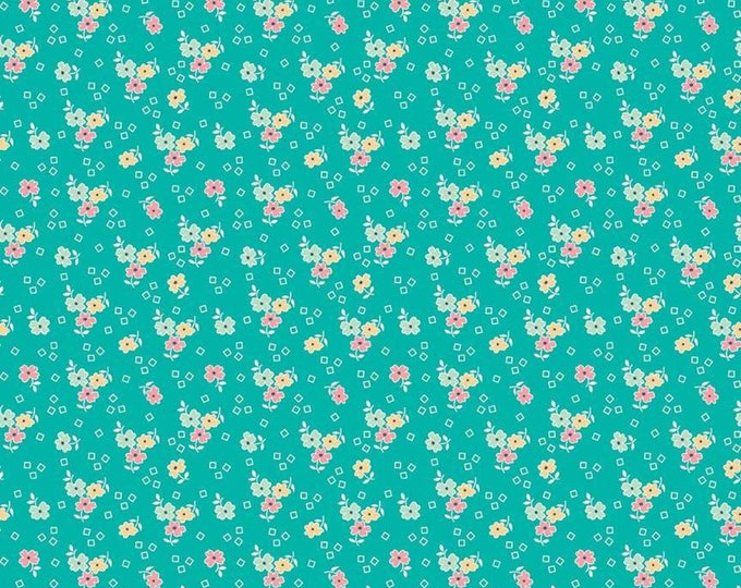 Farm Girl Vintage Flower Vivid by Lori Holt (Bee in My Bonnet) (C7872-VIVID) - 1/2 yard
