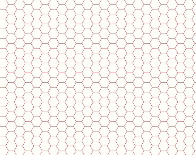 Bee Backgrounds By Lori Holt Honeycomb Red (C6387-Red)