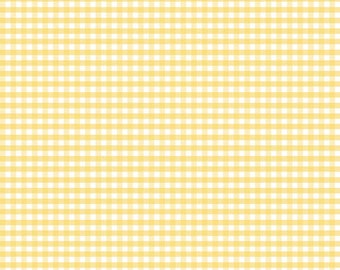 Yellow Small Gingham (C440 50) - Riley Blake Designs - Yellow Gingham - Cotton Quilting Fabric