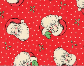 Swell Red Santa by Urban Chiks for Moda Fabrics  (31120 13)  - Christmas Fabric - Cut Options Available