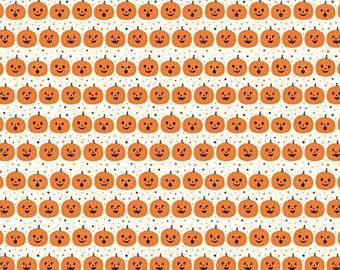 Fab-Boo-Lous Pumpkins - Cream (C8173 CREAM) SALE Fab-boo-lous by Dani Mogstad for Riley Blake Designs - Halloween Fabric