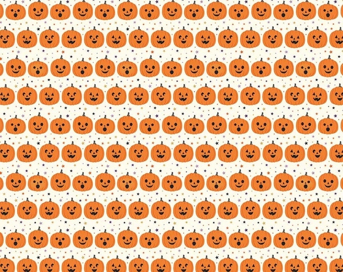 Fab-Boo-Lous Pumpkins - Cream (C8173 CREAM) Fab-boo-lous by Dani Mogstad for Riley Blake Designs