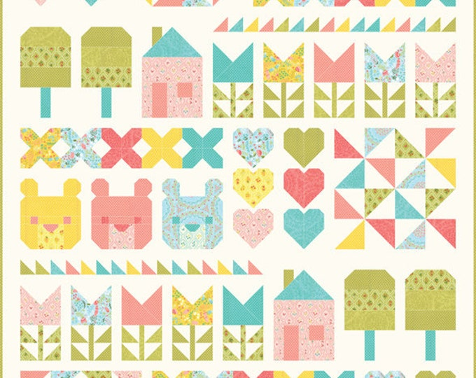 The Three Bears Quilt Kit By Stacy Iest Hsu for Moda (KIT20570) using Home Sweet Home pattern