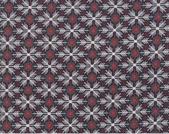 Kringle Claus - Frosty Flakes - Coal - (30594 13) - BasicGrey Kringle Claus for Moda Fabrics -  Cotton Quilting Fabric - Kringle Klaus