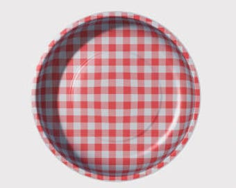 Red Gingham Magnetic Pin Bowls by Pleasant Home