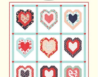 Be Mine Quilt Pattern by Cotton Way for Moda Fabrics (CW 1015)