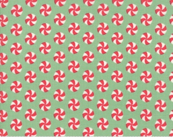 Sweet Christmas - Peppermint Polka Dot - Spearmint (31154 19)Urban Chiks Sweet Christmas Moda - Quilting Fabric - Cut Options Available