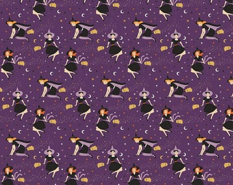 Fab-Boo-Lous Witches - Purple (C8171 PURPLE) SALE Fab-boo-lous by Dani Mogstad for Riley Blake Designs - Halloween Fabric