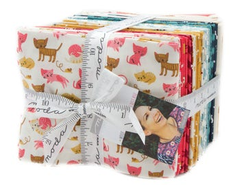 Woof Woof Meow by Stacy Iset Hsu (20560AB) Fat Quarter bundle - 31 FQ's  Plus Dog and Cat Panel