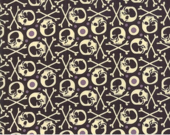 BasicGrey Hallo Harvest Raven RIP (30603 11)  by BasicGrey for Moda - Halloween Fabric - Cotton Quilting Fabric