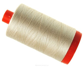 MK50 2000 - Light Sand - Aurifil Cotton Thread Large Spool (1422 yds)