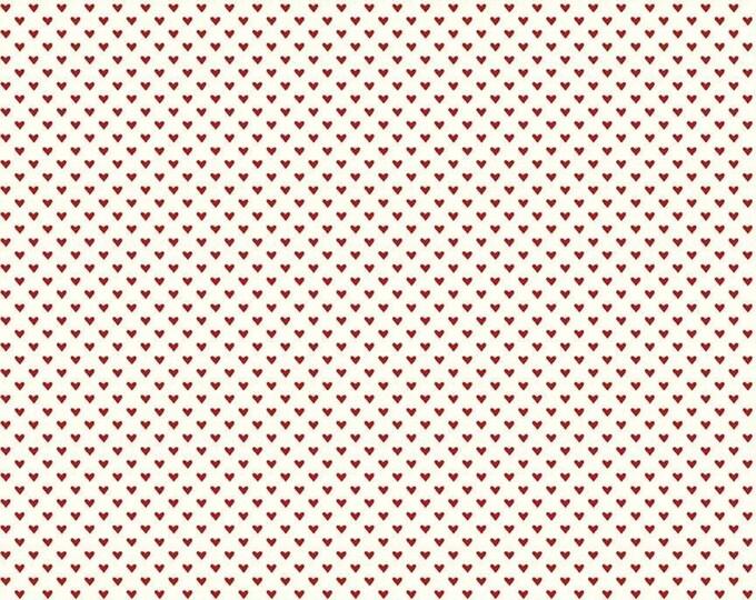 Hello Sweetheart Mini Hearts Cream fabric by Echo Park Paper Co. for Riley Blake Designs (C7624-CREAM)