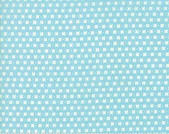 Harper's Garden Aqua Criss Cross by Sherri and Chelsi for Moda Fabrics (37576 23) Cut Options Available