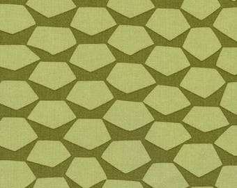 Terrarium SALE (17283-49) Olive Giant Pineapple by Elizabeth Hartman - CLEARANCE FABRIC