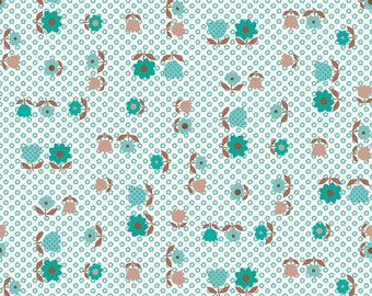 Granny Chic Teal Apron by Lori Holt (Bee in My Bonnet) (C8514 TEAL) - Riley Blake Designs - Lori Holt Granny Chic