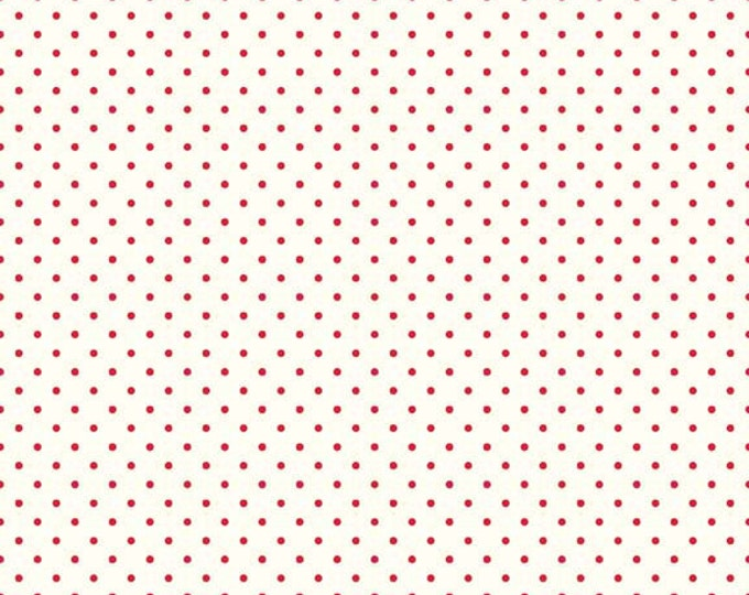 Red Swiss Dots on Cream, Riley Blake Designs  (C600 80)