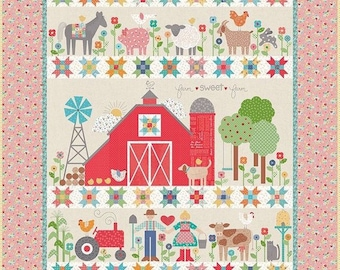 Farm Sweet Farm Quilt Kit by Lori Holt (Bee in My Bonnet) For Riley Blake. - FREE SHIPPING - Lori Holt Quilt Kit - Farm Girl Vintage Fabric