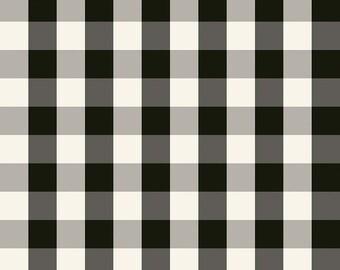 Winterberry - Black Check - My Mind's Eye - Riley Blake Designs - Christmas Fabric - Cut Options Available (C8448 BLACK)