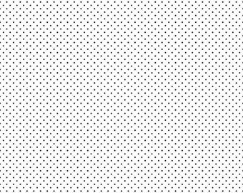 Black Swiss Dots On White  (C660 110) - Riley Blake Swiss Dots - Black Swiss Dot Fabric - 1/4 yard