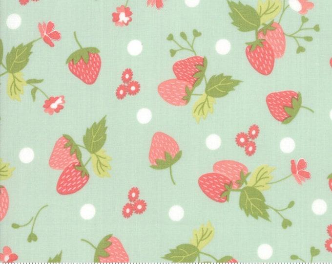 Strawberry Jam Droplet Strawberry Polka Dot by Corey Yoder (Little Miss Shabby) for Moda (29062 19)