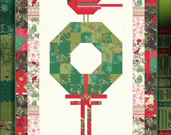 Cardinals Christmas Wreath Quilt Pattern by Robin Pickens for Moda Fabrics (RPQP CCW119)