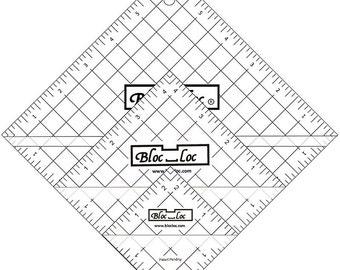 "Half Square Triangle Ruler Set 2 -  Set includes: 2.5"", 4.5"", 6.5"" HST rulers"