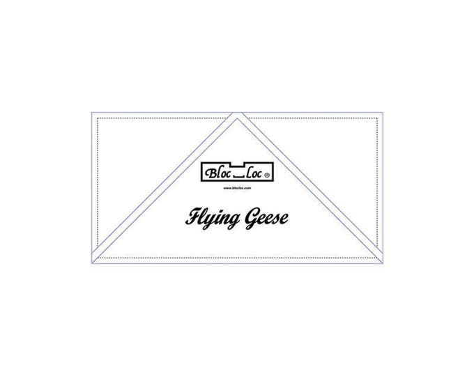 "Bloc Loc - Flying Geese Ruler  2"" x 4"" - Quilting Tool"