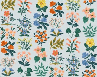 Meadow Sky Wildflower Field Lawn Fabric by Rifle Paper Co. for Cotton and Steel Fabrics (RP202-GY2L ) - Cut Options Available!