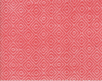 Bonnie and Camille Wovens Red Diamond for Moda Fabrics  (12405 17) - Red Print Fabric - Woven Fabric