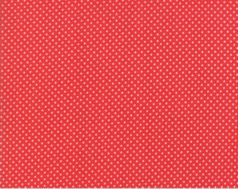 Early Bird Red Dots by Bonnie & Camille for Moda Fabrics (55195 11) - Cut Options Available