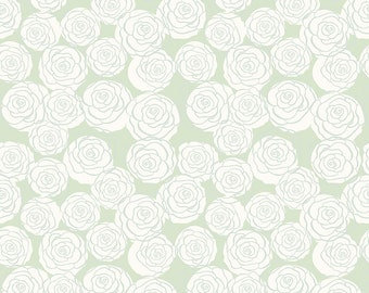 """Bliss Mint Roses by My Mind's Eye for Riley Blake Designs (C8162-MINT) - 31"""" remnant"""