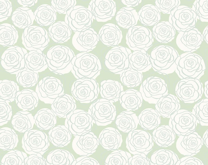 Bliss Mint Roses by My Mind's Eye for Riley Blake Designs (C8162-MINT)