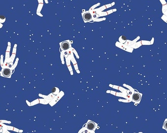 NASA Astronauts Blue Flannel (F8277 BLUE) for Riley Blake Designs - Fun Flannel Fabric ! Cut Options Available