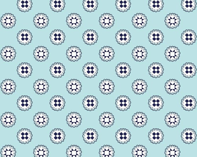 Simple Goodness Aqua Quilt Stars by Tasha Noel  (C7938-AQUA)