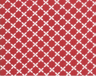 Sweet Tea Lattice in Red by Sweetwater for Moda Fabrics - (5725-18)